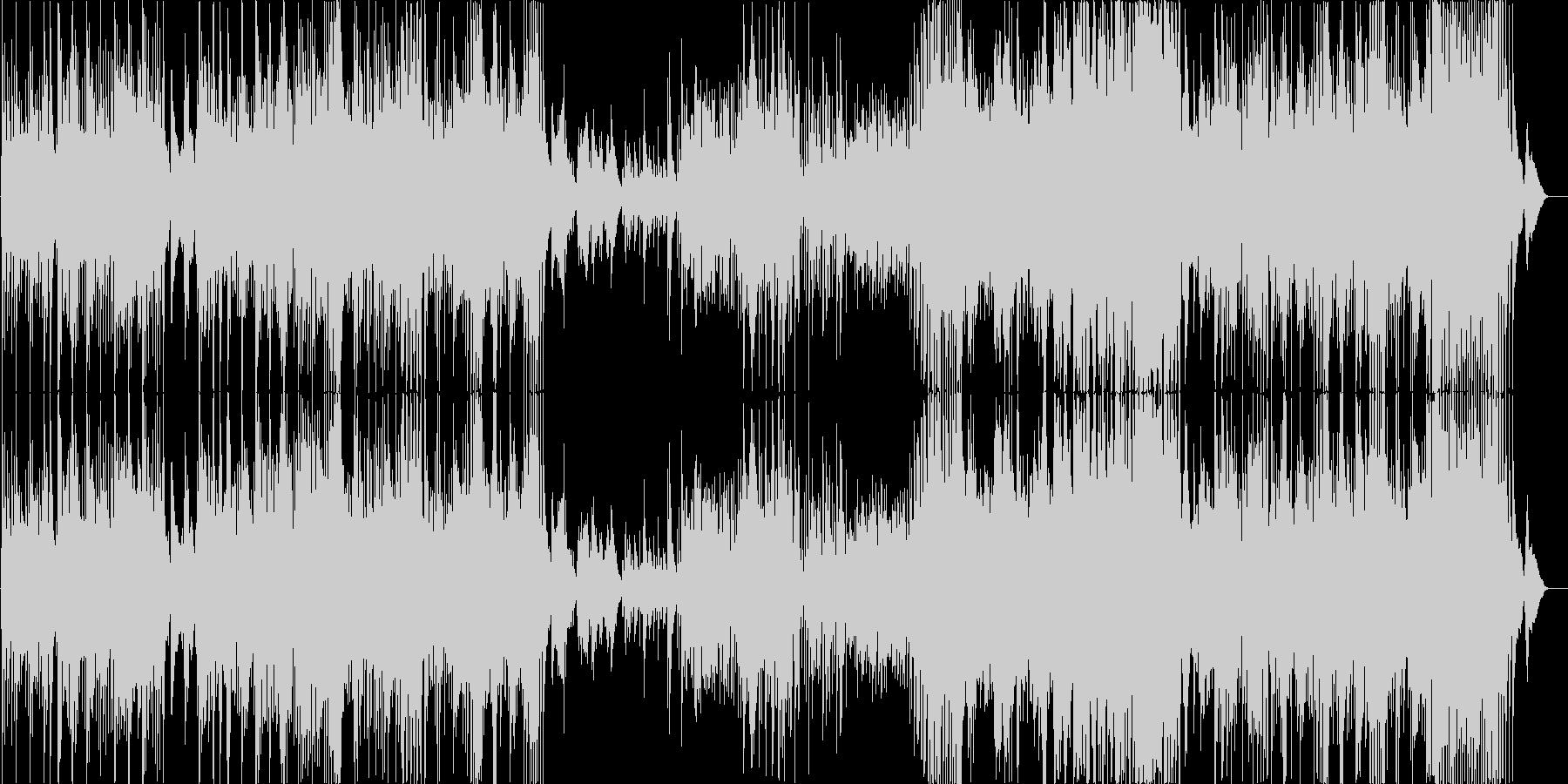 旅番組などに最適な元気なインスト曲の未再生の波形
