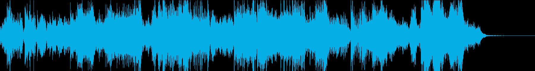 フルートとシンセの幻想的なアンサンブルの再生済みの波形