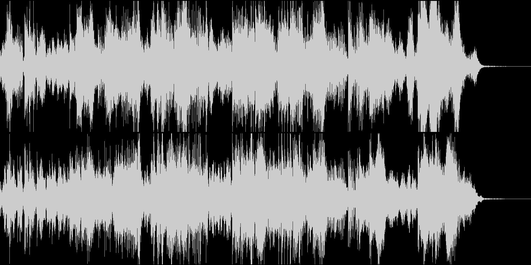 フルートとシンセの幻想的なアンサンブルの未再生の波形