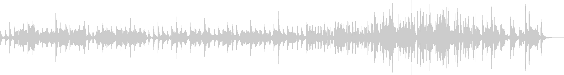 ピツィカートとオーボエの穏やかな曲の未再生の波形