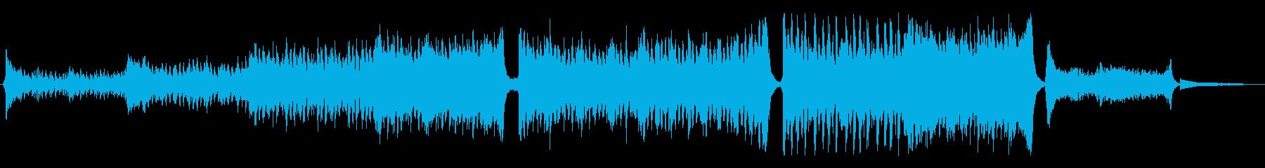 迫力、勢いのあるエピックオーケストラ曲の再生済みの波形