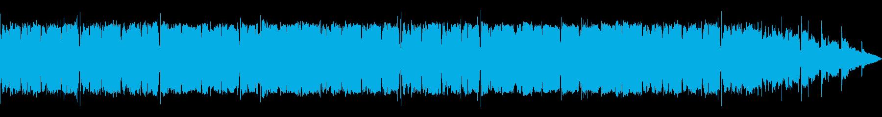 にぎやかな活気があるケルト風音楽の再生済みの波形