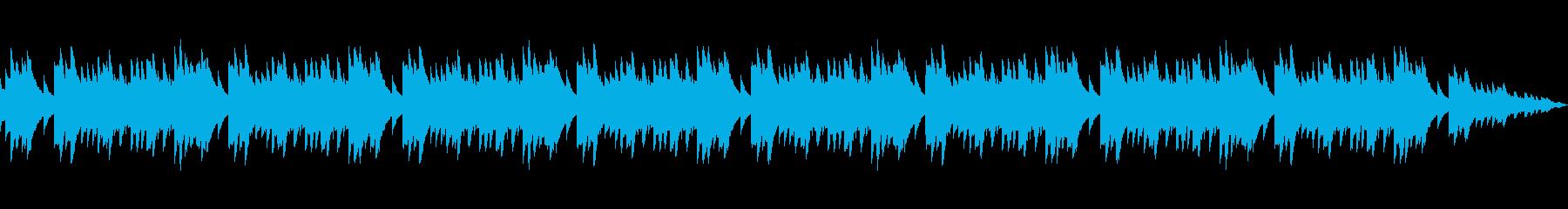 幻想的で美しいキラキラしたオルゴールの再生済みの波形