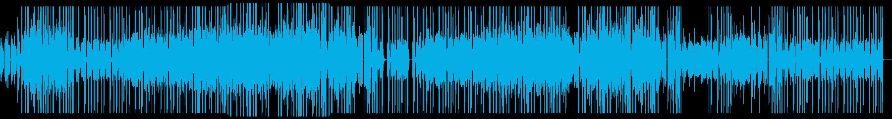 ダークな洋楽風ニューソウル、ポップスの再生済みの波形