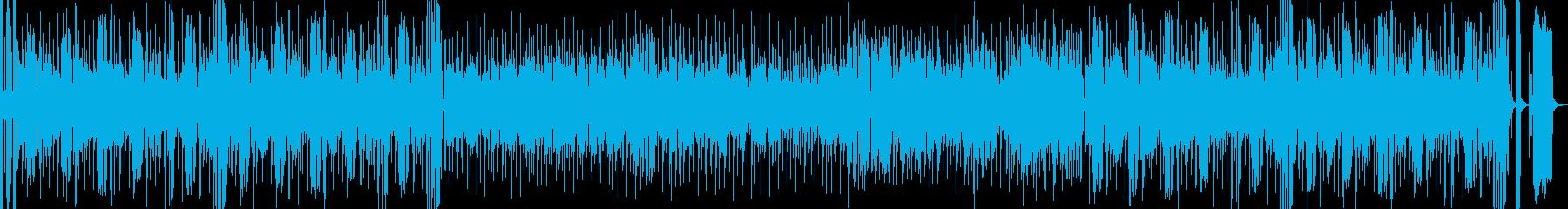 ファンキーで賑やかなバンド曲。ブラス入りの再生済みの波形