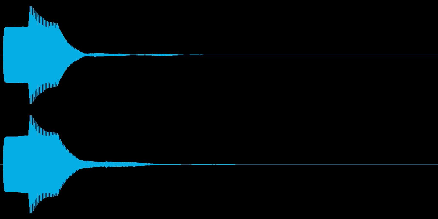 ピコン(起動,通知,タップ,決定)_06の再生済みの波形