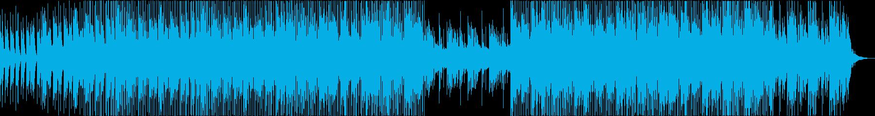 アンビエントなテクノポップの再生済みの波形