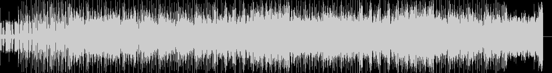無機質なテクノにポップなメロディが乗る曲の未再生の波形