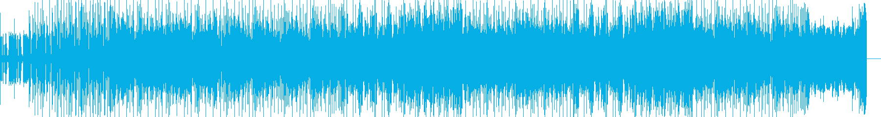 無機質なテクノにポップなメロディが乗る曲の再生済みの波形