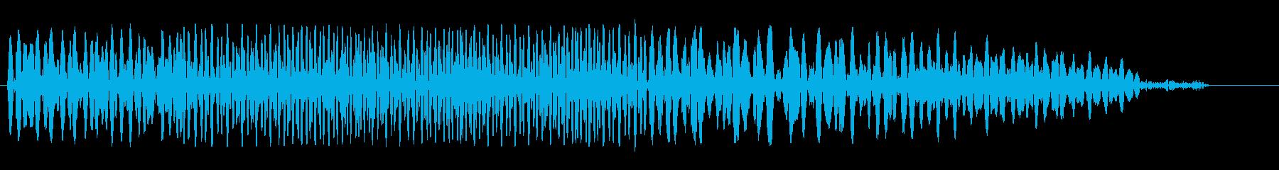 ゲートが開く音(低い)の再生済みの波形