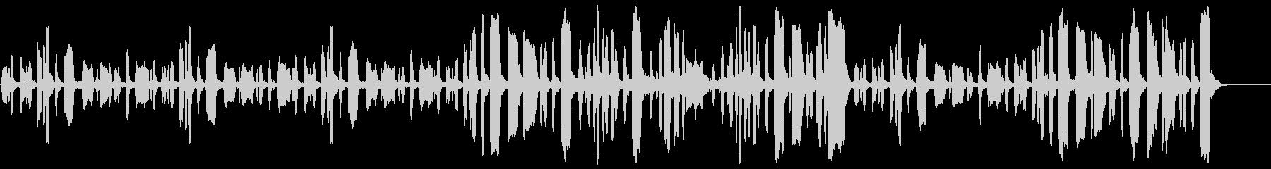 リコーダーののほほんとした曲の未再生の波形