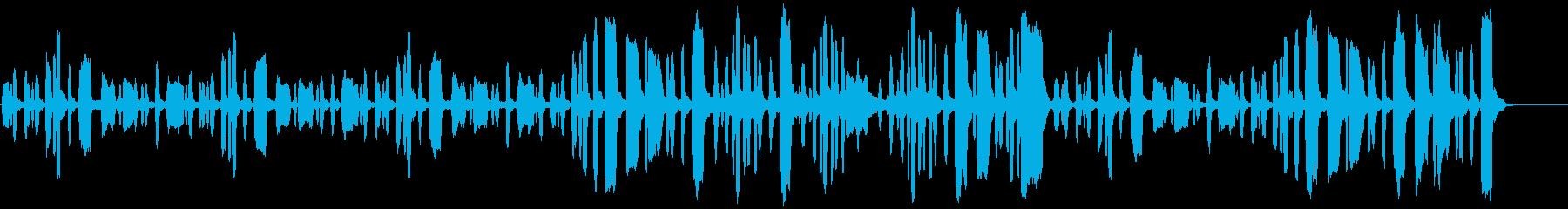 リコーダーののほほんとした曲の再生済みの波形