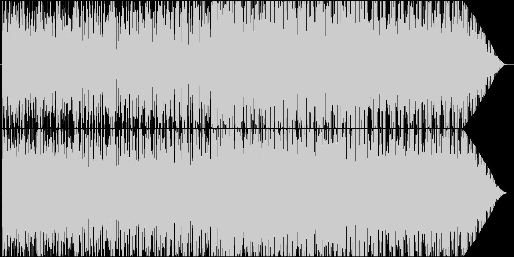 話すように歌う歌詞、キャッチーな歌物の未再生の波形