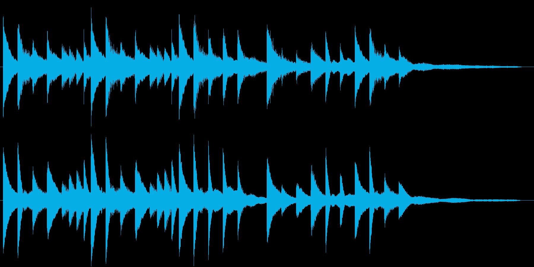 気持ちいいリラクゼーションピアノジングルの再生済みの波形