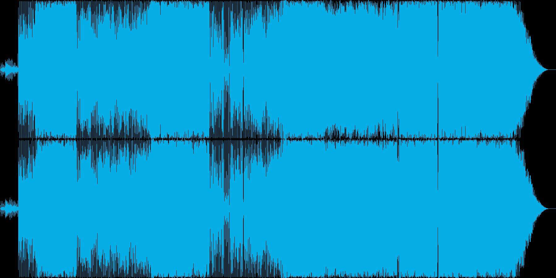 可愛いガールズダンスポップロックの再生済みの波形