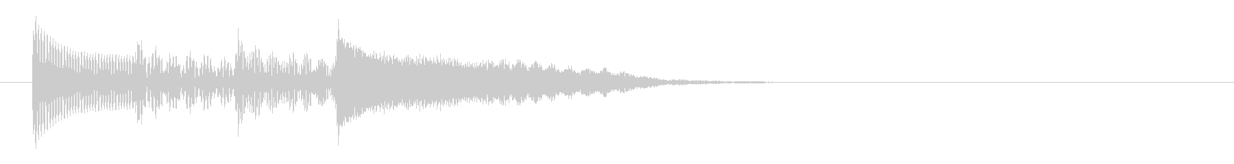 チャイム 16の未再生の波形