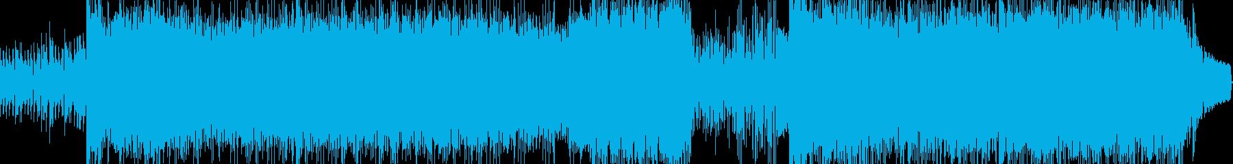 速いテンポのドラムンベースの再生済みの波形