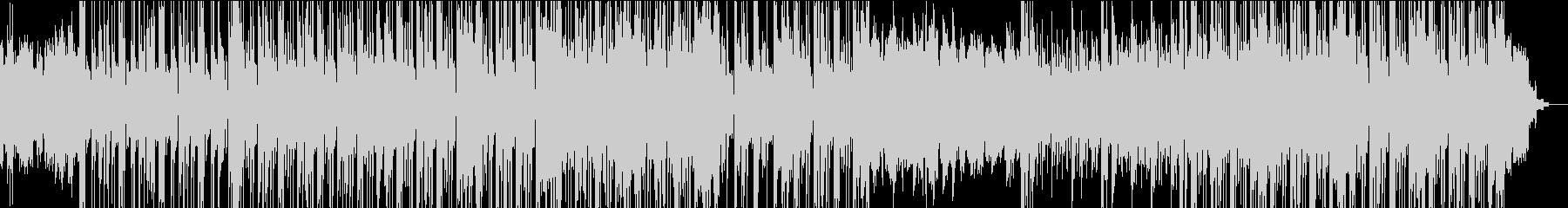 シンセによるハードエッジのダウンテンポの未再生の波形