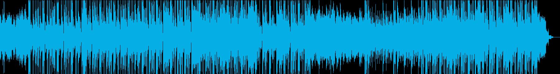 シンセによるハードエッジのダウンテンポの再生済みの波形