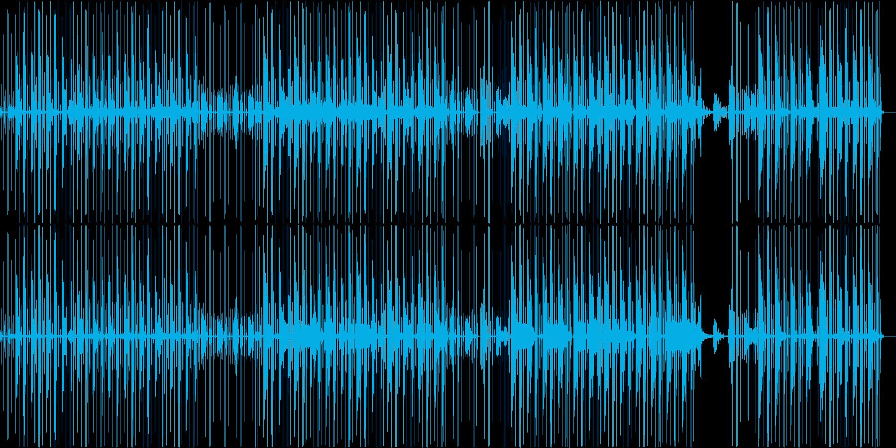 ヒップホップ風エレクトロニックファンクの再生済みの波形