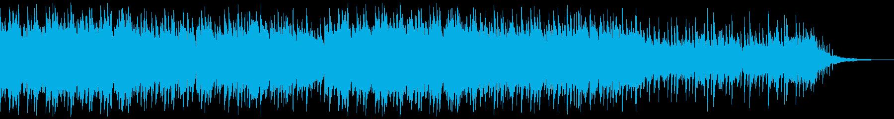 感動場面にアコースティックピアノ伴奏風曲の再生済みの波形