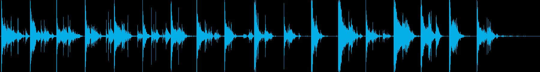 チャリチャリ(コインが連続排出される音)の再生済みの波形