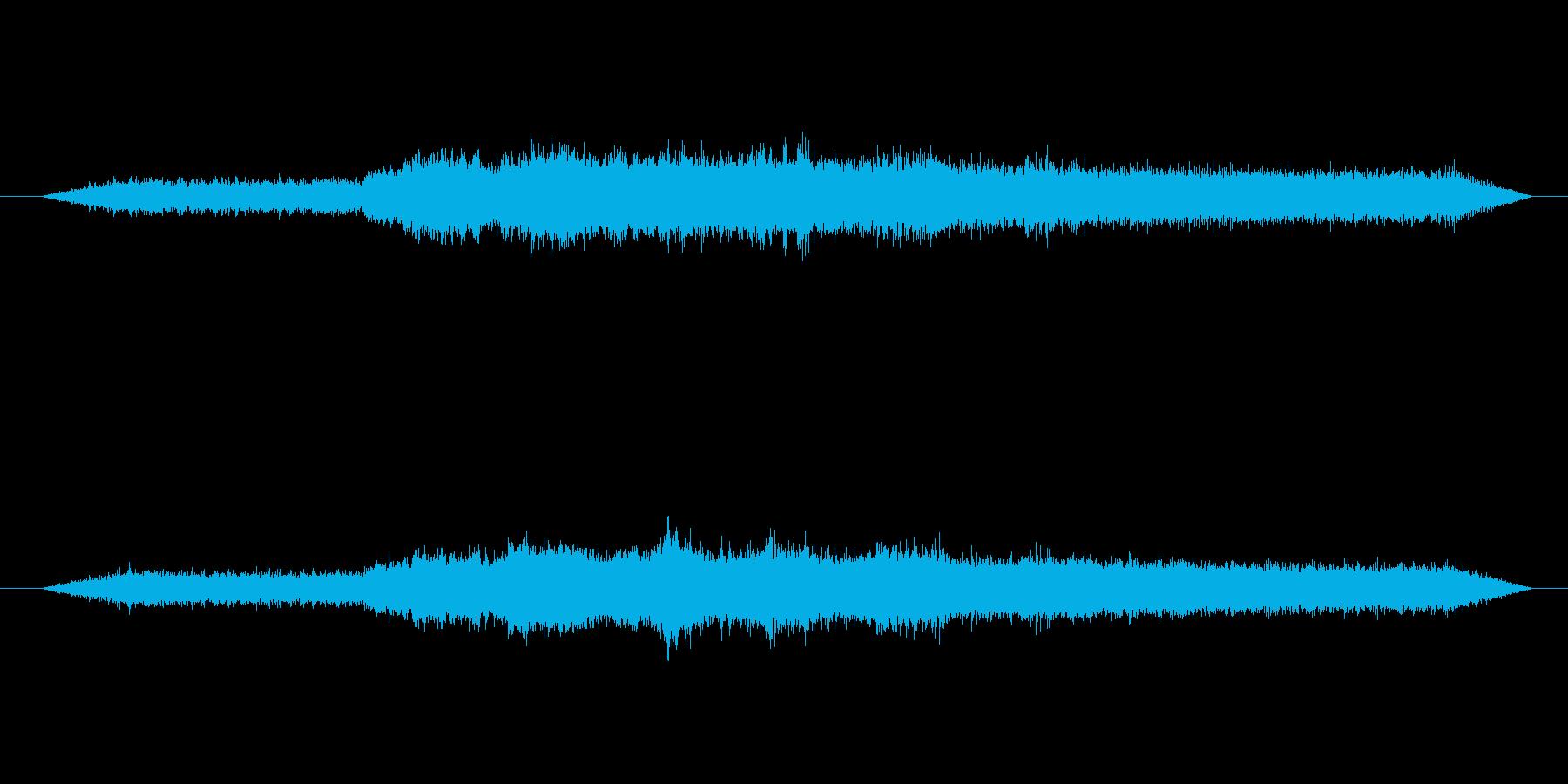 ミンミンゼミとアブラゼミ_02の再生済みの波形