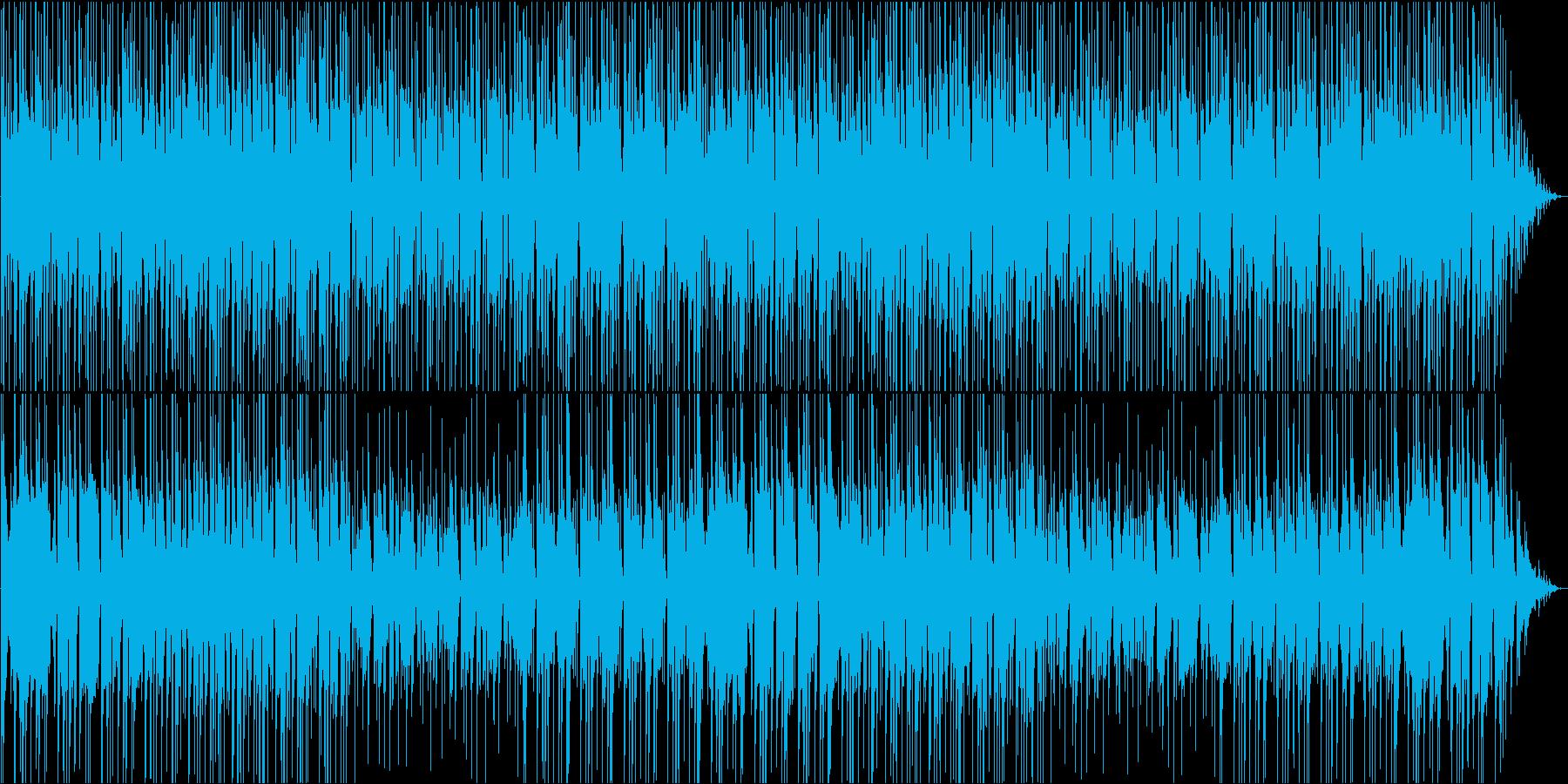 お祭りの山車の時の笛と太鼓の明るい曲の再生済みの波形