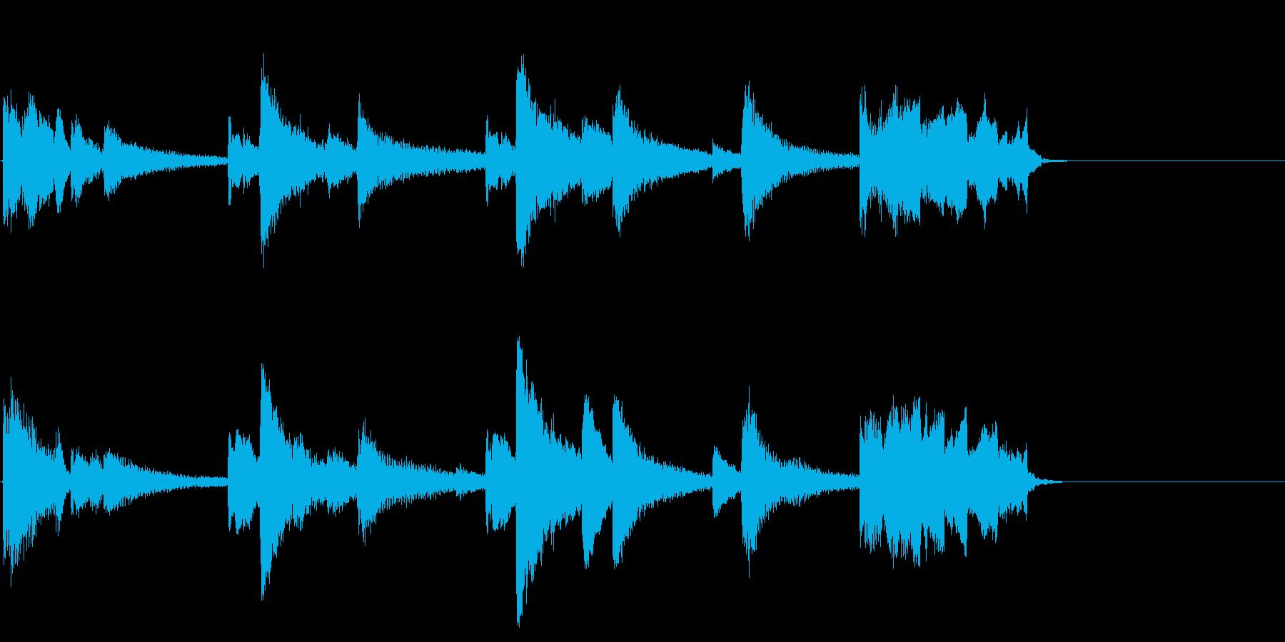 ピアノを用いた落ち着いたジングルの再生済みの波形