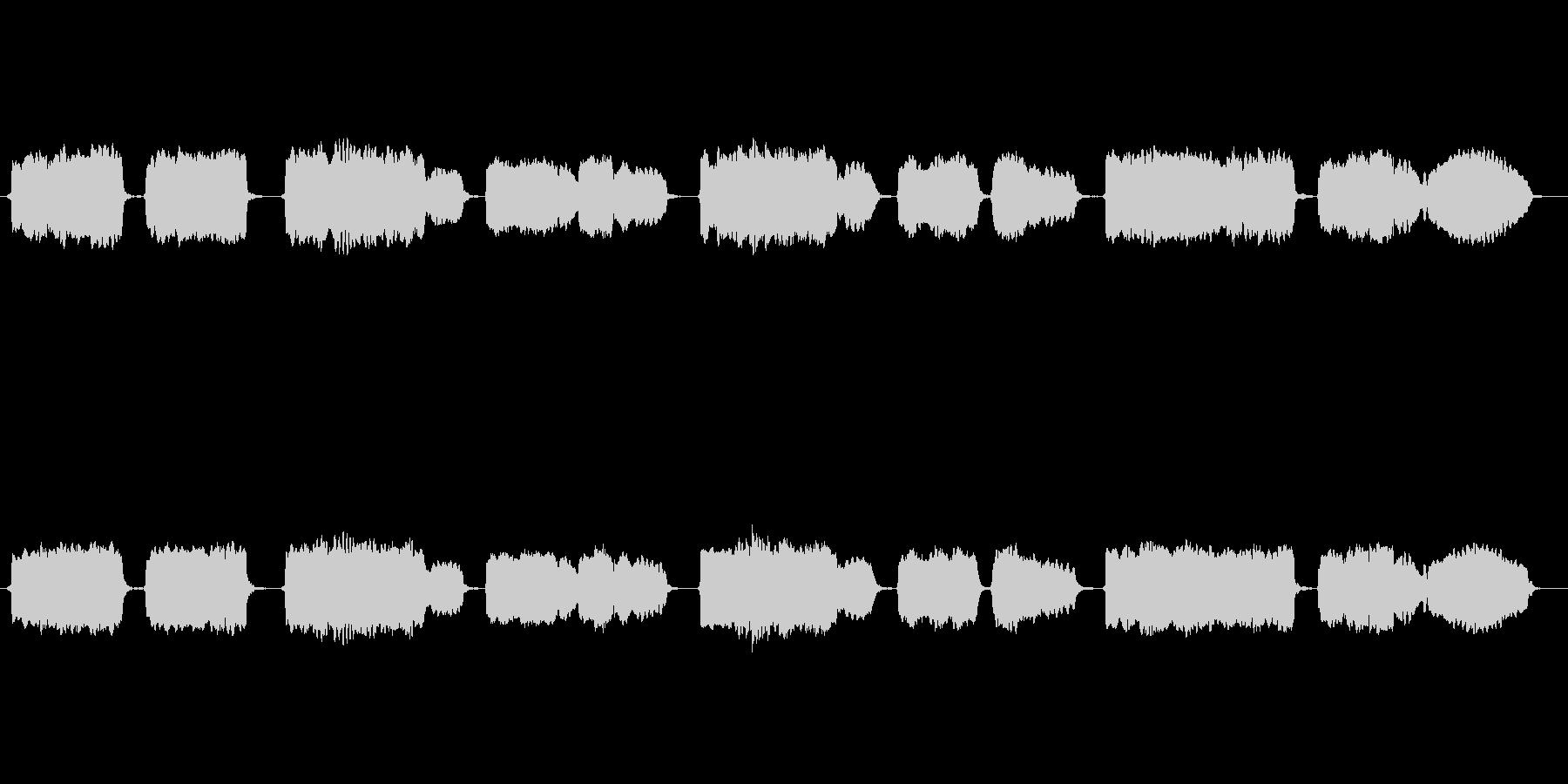 日本古謡「さくらさくら」の篠笛独奏の未再生の波形
