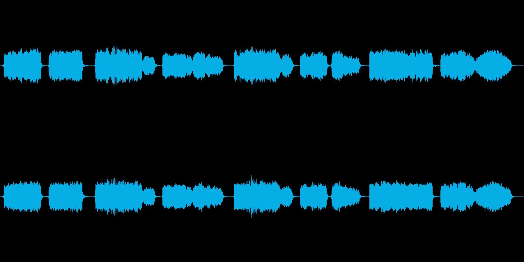 日本古謡「さくらさくら」の篠笛独奏の再生済みの波形