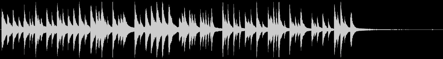 「たなばたさま」ゆったりとしたピアノソロの未再生の波形