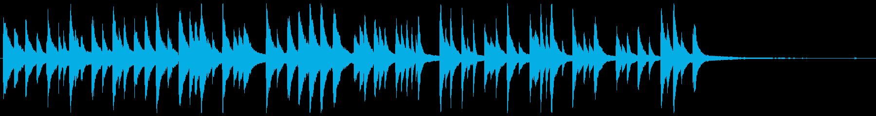 「たなばたさま」ゆったりとしたピアノソロの再生済みの波形