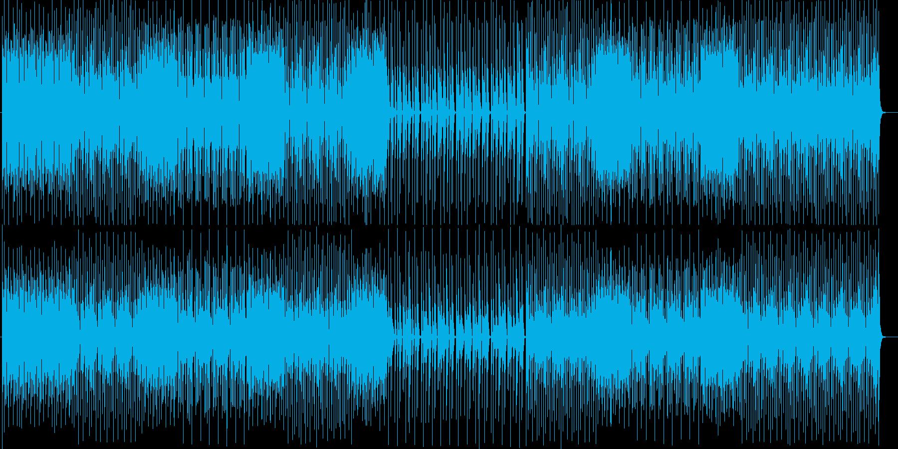 近未来感と疾走感のあるドラムンベースの再生済みの波形