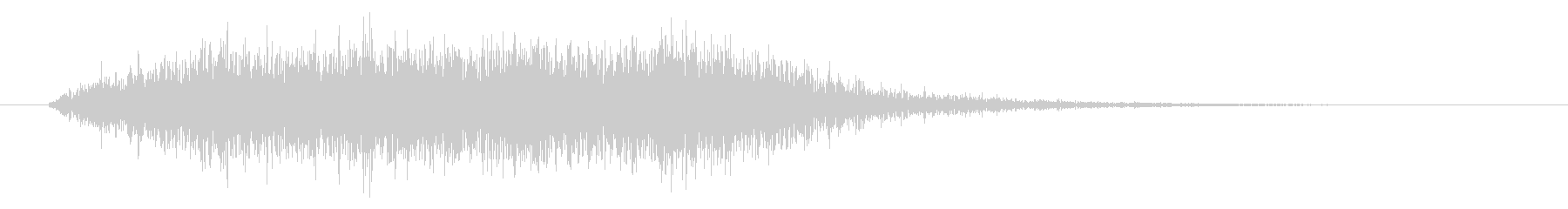 ホラー効果音 低音ブオー 奇怪なコーラスの未再生の波形