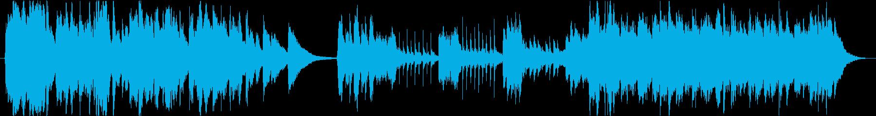 約30秒のストーリー性があるBGMの再生済みの波形