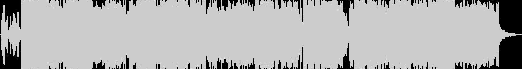 アニメの変身シーンなどにかかる曲の未再生の波形