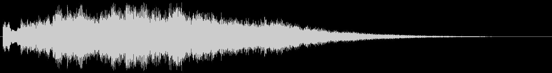 KANT神秘的なピアノとシンセジングルの未再生の波形
