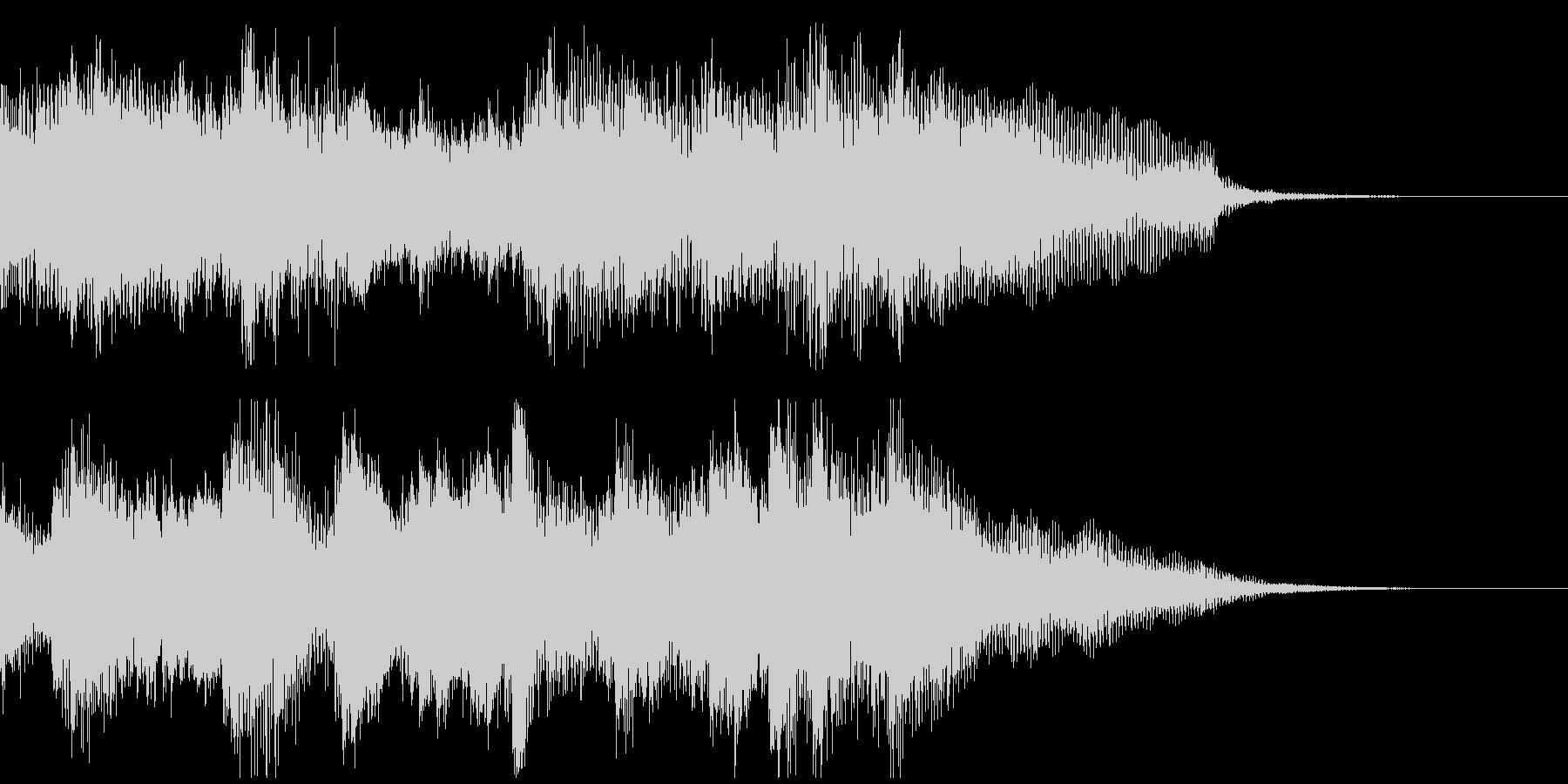 高速アルペジオが華麗なピアノのジングルの未再生の波形