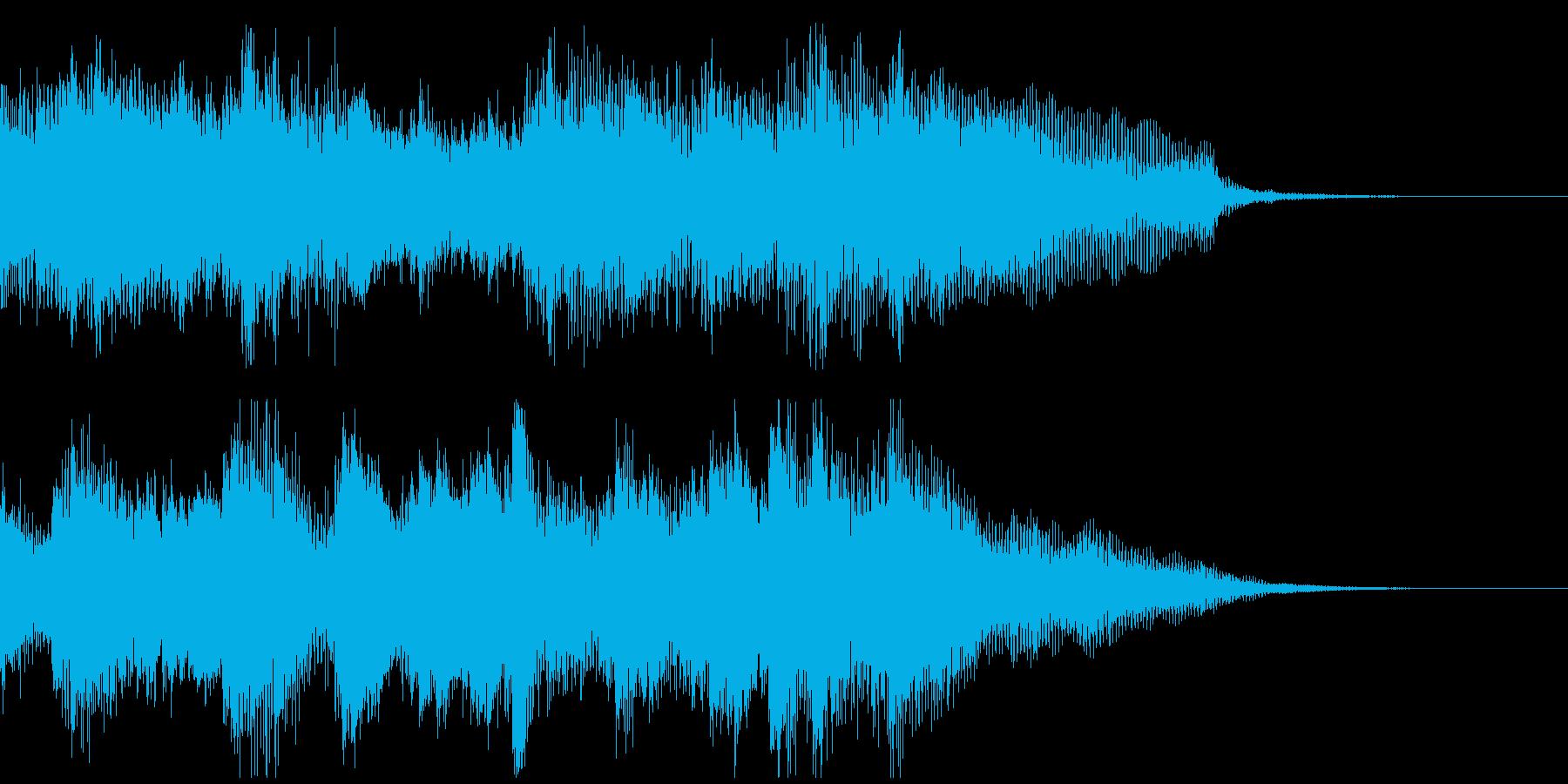 高速アルペジオが華麗なピアノのジングルの再生済みの波形
