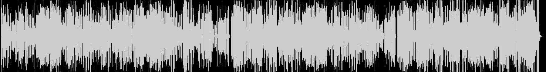 ポップでドタバタコミカルなアニメ風BGMの未再生の波形