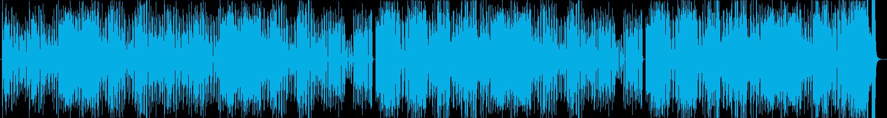 ポップでドタバタコミカルなアニメ風BGMの再生済みの波形