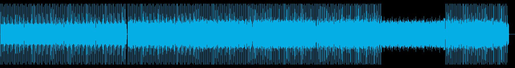 破壊的な雰囲気のテクノ曲の再生済みの波形