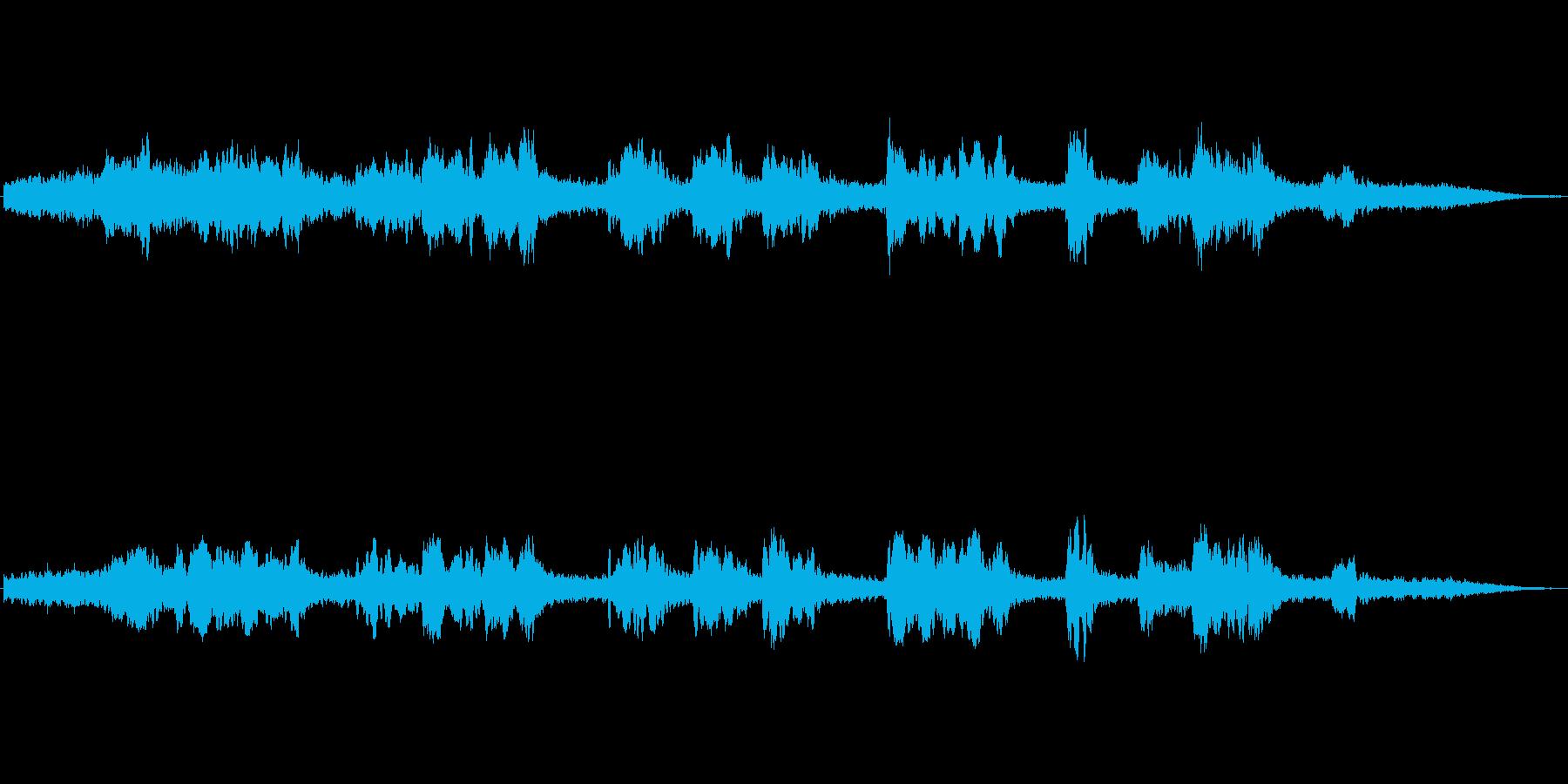 ニューエイジ風の笛のジングルの再生済みの波形