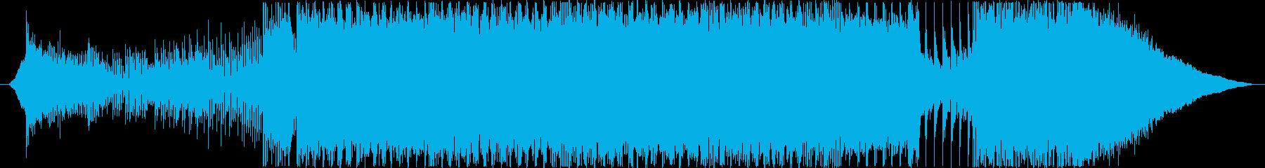 デジタルなエピックロック曲の再生済みの波形