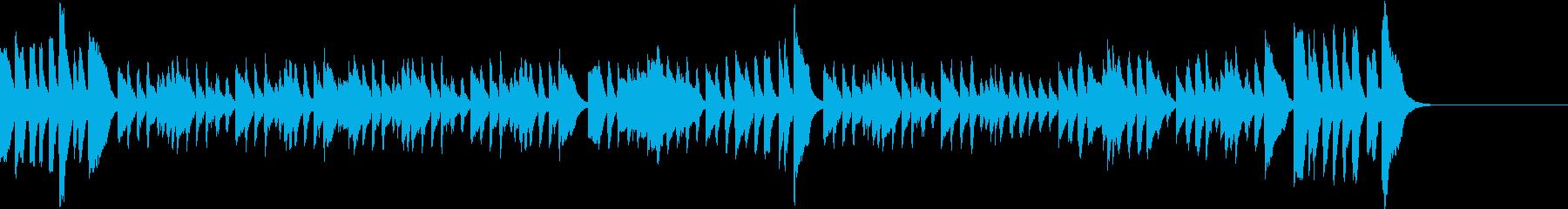 可愛らしいピアノのワルツ 料理 日常の再生済みの波形