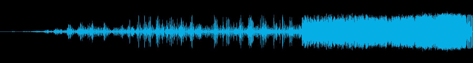 細いスワイプ4の再生済みの波形