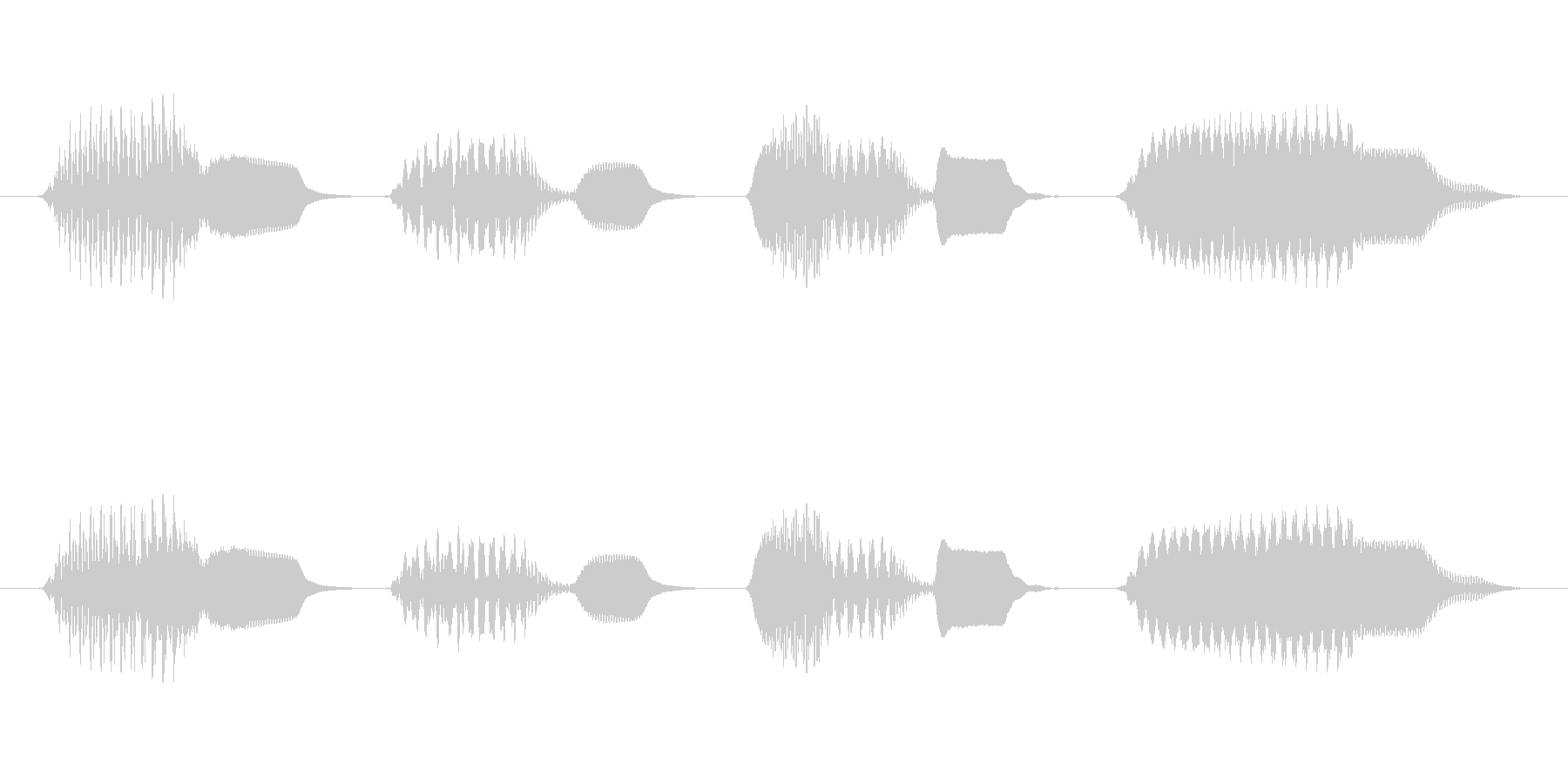 軽快な生演奏のリコーダージングルの未再生の波形