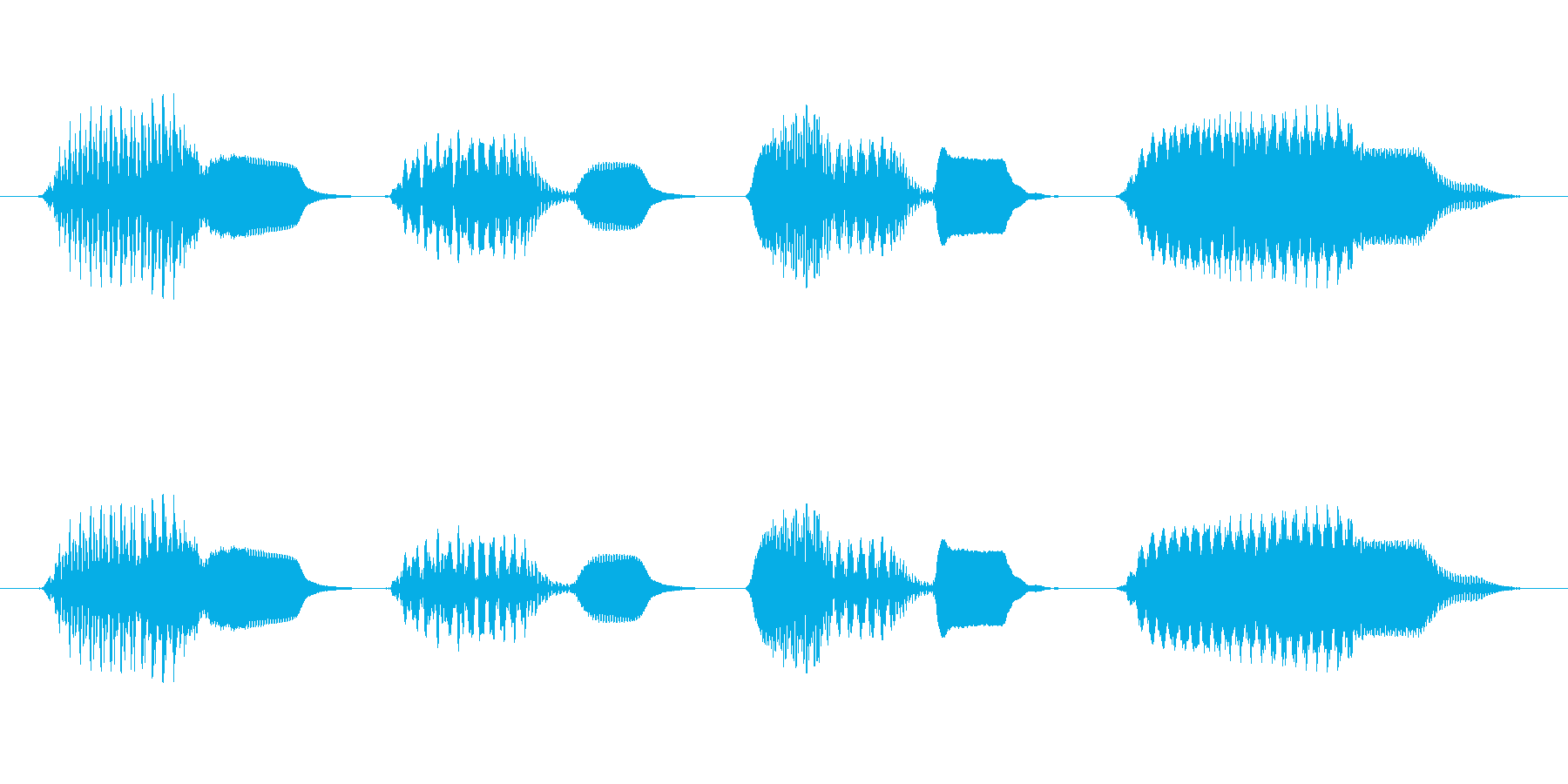 軽快な生演奏のリコーダージングルの再生済みの波形