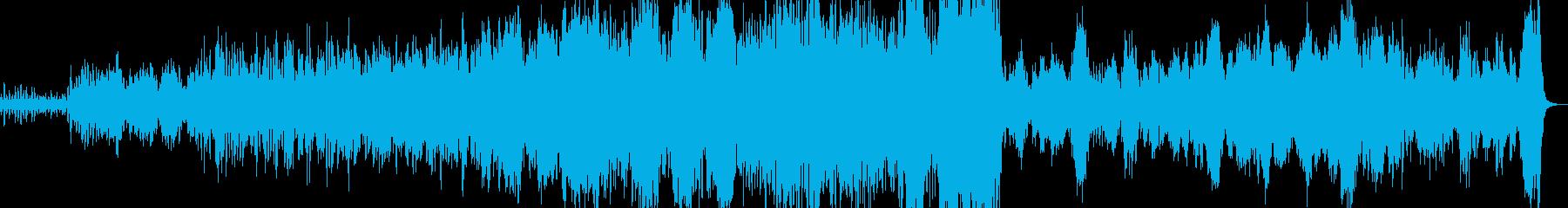 ワルツ 弦楽器主体のオーケストラの再生済みの波形